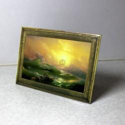 Закатной магнит 90*65 с ножкой (образец), настольная миниатюра