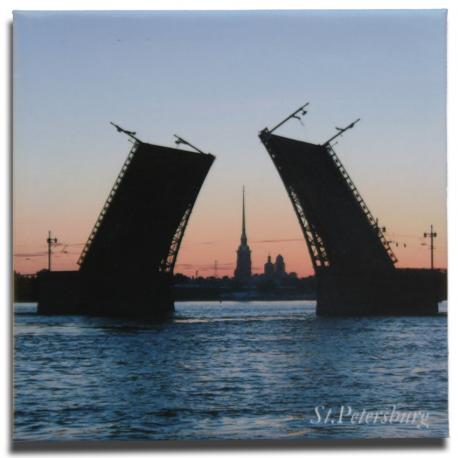 Туристический магнит Дворцовый мост